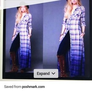 Free People We the Free plaid Duster dress